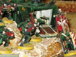 Ork vs DAs Pt2 111 300x225 Second Warhammer Armies Battle Report, Terrain, Skaven, and more...